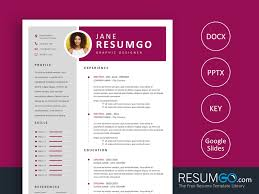 Efimia Professional Magenta Resume Template Resumgocom