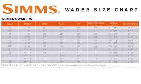 Simms Freestone Size Chart Simms Sizing Chart Waders Www Bedowntowndaytona Com