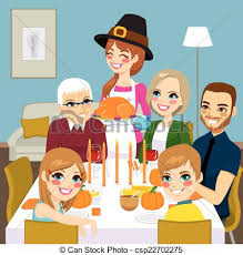 family turkey dinner clipart. Perfect Clipart Thanksgiving Family Dinner  Csp22702275 Throughout Turkey Clipart R