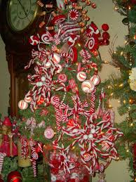 Hot Chocolate With Marshmallows On The Wooden Background Firtree Christmas Tree With Candy Canes
