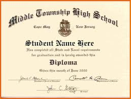 School Certificates Template High School Diploma Template Word Free Download