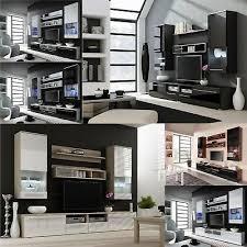bmf cama 1 <b>tv wall unit</b> entertainment room furniture <b>set</b> led <b>cabinets</b>