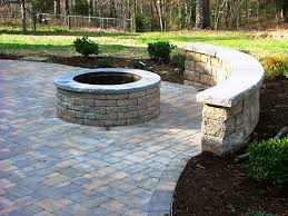 patio pavers with fire pit. Image Of: Patio Paver Fire Pit Idea Pavers With P