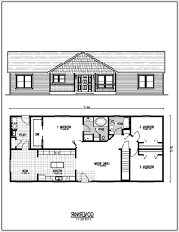 Extraordinary Ranch House Plans With Basement Nice Design Homes - House with basement plans