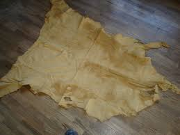 details about beautiful buckskin brain tanned leather deer hide 11 3 square feet
