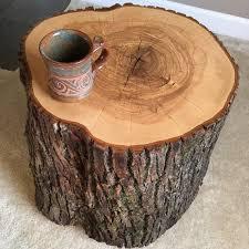 reclaimed oak tree stump table