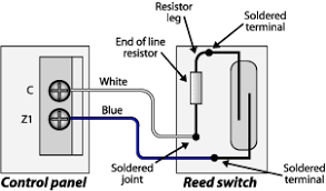 electrotechnology e tech s smart guide to installation reed switch diagram showing how the reed switch is wired up to the control panel