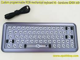 custom programmable rgb mechanical keyboard diy kit hotswap pcb build your own keyboard