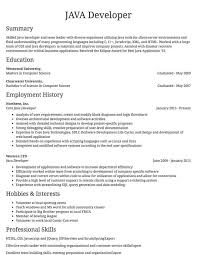 Resume Sapmles Sample Resumes Example Resumes With Proper Formatting Resume Com