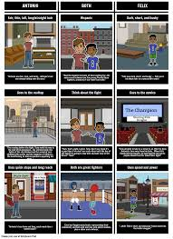 Compare And Contrast Sound And Light Amigo Brothers Compare And Contrast Storyboard