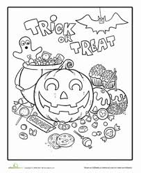 halloween candy coloring page. Halloween First Grade Kindergarten Holiday Worksheets Candy Coloring Page To