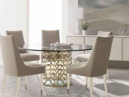 round glass top table six chairs