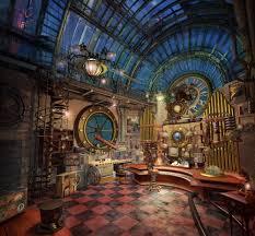 steampunk office decor. Ergonomic Interior Decor Steampunk Design Style Cool Office: Full Size Office A