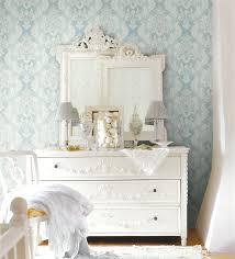 Light Blue Wallpaper Bedroom Hampton Style Airy Linens Fresh Blues Brewster Home