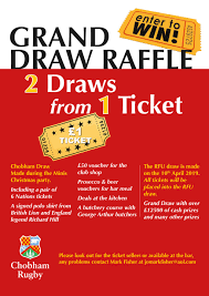Prize Draw Tickets Grand Draw Raffle 2 Draws From 1 Ticket On Sale Behind The Bar
