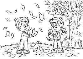 Small Picture Autumn Colouring Page FunyColoring