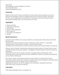 Resume For Security Guard Resume Templates