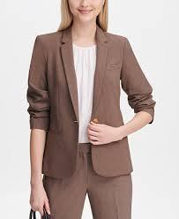 Calvin Klein <b>One</b>-<b>Button Blazer</b> & Reviews - <b>Jackets</b> & Blazers ...
