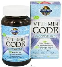garden of life vitamin code raw 50 and wiser men s multivitamin 240 capsules