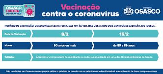 Osasco começa a vacinar idosos de 90 anos ou mais na segunda-feira, 8/2 -  Prefeitura de Osasco