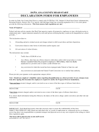 Employee Declaration Form 3 Free Templates In Pdf Word Excel