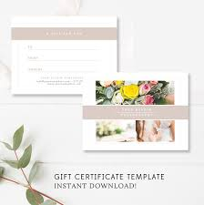 Photography Gift Certificate Template Photography Gift Certificate Template By Stephanie Design
