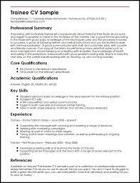 Skills To Write On A Resume Wonderful 1817 Trainee CV Sample MyperfectCV