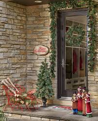 How To Hang Lighted Wreath On Door How To Hang Holiday Garland And Wreaths