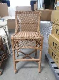 Image Is Loading PotteryBarnDelaneyRattanWickerIndoorPatioTALL Pottery Barn Rattan Chair T55