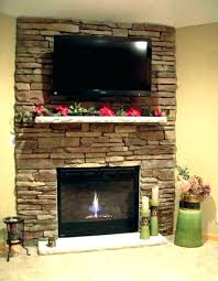 stacked stone tile fireplace surround unique images photos ideas incredible decorating corner