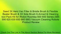 Best buy Vacuum Cleaning Robot SHPZONE Aero Vac Filter Bristle ...