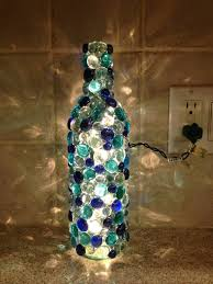 home wine room lighting effect. recycle reuse renew mother earth projects diy glass bead wine bottle home room lighting effect e