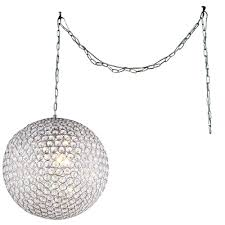 jessie 3 light chrome indoor 12 in round crystal swag chandelier with shade