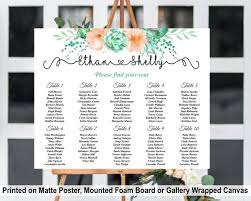 Etsy Wedding Seating Chart Alphabetical Succulent Seating Chart Sign Wedding Seating Chart Board With Cacti Florals Table Seating Plan Sign Alphabetical Seating Chart Board
