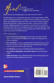 com ariel a reader s interactive exploration of american com ariel a reader s interactive exploration of american literature 9780073196770 mcgraw hill books