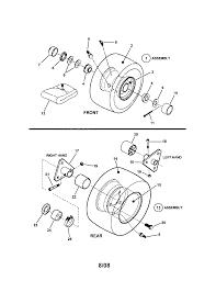 Wheels front u0026 rear diagram u0026 parts list for model 281223bve