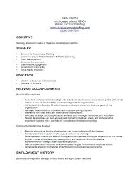 Business Development Manager Resume Business Development Manager