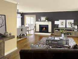 Living Room Color Combination Living Room White Bookcases Black Console Table Brown Ceiling