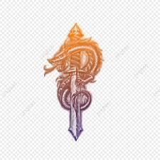 Dragon On Sword Tattoos татуировка бабочки Png и Psd файл для