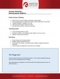 Sample Strategic Marketing Meeting Agenda Good For