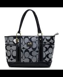 Shopping Online For Coach Madison In Signature Large Grey Totes ANH Also  Puts You In The