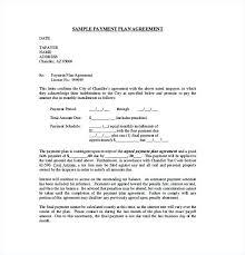 Payment Plan Template Installment Payment Plan Agreement Contract Template Sample