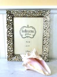vintage frame gold metal filigree 8 x ornate picture whitewashed wedding regency french white frames photo