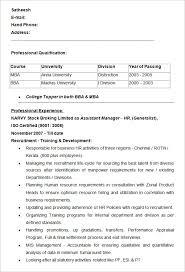 Hr Resume Templates Amazing 28 HR Resume Templates DOC Free Premium Templates Resume Templates