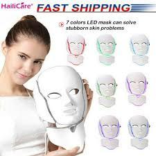 Led Light For Skin Details About 7 Colors Led Light Photon Face Mask Rejuvenation Skin Therapy Anti Wrinkles Us
