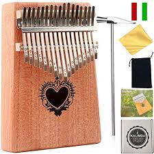 thumb piano ranch kalimba 17 keys finger mbira with 6 free lessons solid wood gany
