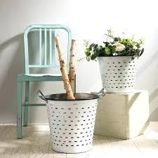 galvanized metal planters set of 2 small large canada