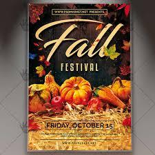 Fall Festival Flier Fall Fest Premium Flyer Psd Template