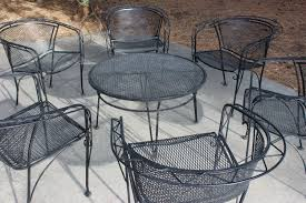 deck wrought iron table. RESERVED FOR SUSANWrought Iron Patio Furniture, Set Of 4 Chairs, MCM Woodard Style Set, Furniture Deck Wrought Table M