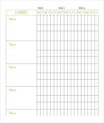 Chore Chart Samples Chore Charts Template Daily Chart Pdf Printable Mrktr Co